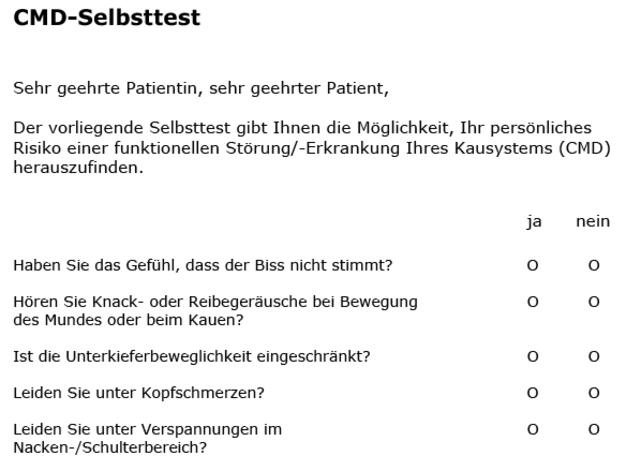 CMD-Selbsttest als PDF-Download